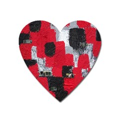 Red Black Gray Background Heart Magnet by Simbadda
