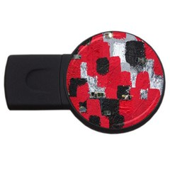 Red Black Gray Background Usb Flash Drive Round (4 Gb)
