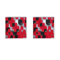 Red Black Gray Background Cufflinks (square)