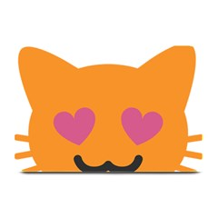 Smile Face Cat Orange Heart Love Emoji Plate Mats