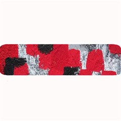 Red Black Gray Background Large Bar Mats by Simbadda