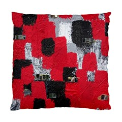 Red Black Gray Background Standard Cushion Case (two Sides) by Simbadda
