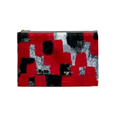Red Black Gray Background Cosmetic Bag (medium)  by Simbadda