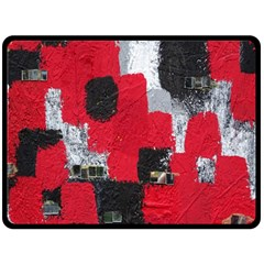 Red Black Gray Background Fleece Blanket (large)  by Simbadda