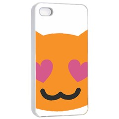 Smile Face Cat Orange Heart Love Emoji Apple Iphone 4/4s Seamless Case (white) by Alisyart