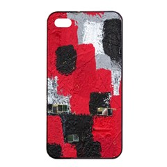 Red Black Gray Background Apple Iphone 4/4s Seamless Case (black) by Simbadda