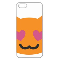 Smile Face Cat Orange Heart Love Emoji Apple Seamless Iphone 5 Case (clear)