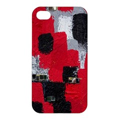 Red Black Gray Background Apple Iphone 4/4s Hardshell Case
