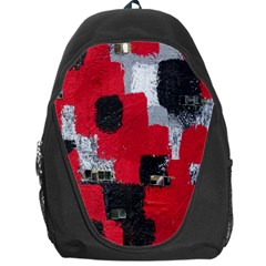 Red Black Gray Background Backpack Bag