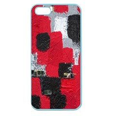 Red Black Gray Background Apple Seamless Iphone 5 Case (color)