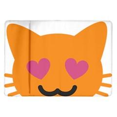 Smile Face Cat Orange Heart Love Emoji Samsung Galaxy Tab 10 1  P7500 Flip Case