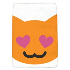 Smile Face Cat Orange Heart Love Emoji Flap Covers (l)  by Alisyart