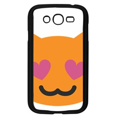 Smile Face Cat Orange Heart Love Emoji Samsung Galaxy Grand Duos I9082 Case (black) by Alisyart