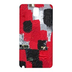 Red Black Gray Background Samsung Galaxy Note 3 N9005 Hardshell Back Case by Simbadda