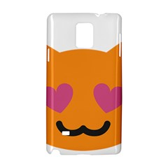 Smile Face Cat Orange Heart Love Emoji Samsung Galaxy Note 4 Hardshell Case