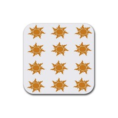 Sun Cupcake Toppers Sunlight Rubber Square Coaster (4 Pack)  by Alisyart