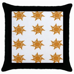 Sun Cupcake Toppers Sunlight Throw Pillow Case (black) by Alisyart