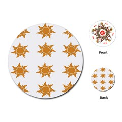 Sun Cupcake Toppers Sunlight Playing Cards (round)