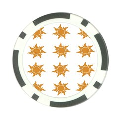 Sun Cupcake Toppers Sunlight Poker Chip Card Guard (10 Pack) by Alisyart