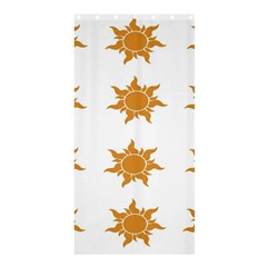 Sun Cupcake Toppers Sunlight Shower Curtain 36  X 72  (stall)  by Alisyart