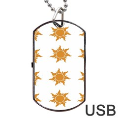 Sun Cupcake Toppers Sunlight Dog Tag Usb Flash (one Side)