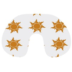 Sun Cupcake Toppers Sunlight Travel Neck Pillows by Alisyart