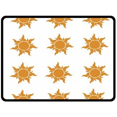 Sun Cupcake Toppers Sunlight Double Sided Fleece Blanket (large)