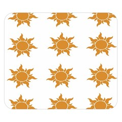 Sun Cupcake Toppers Sunlight Double Sided Flano Blanket (small)  by Alisyart