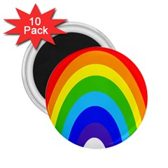 Rainbow 2 25  Magnets (10 Pack)  by Alisyart