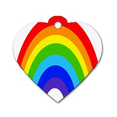 Rainbow Dog Tag Heart (one Side)