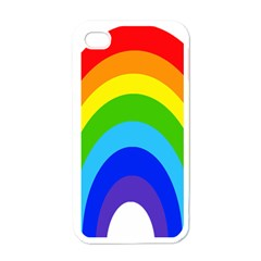 Rainbow Apple Iphone 4 Case (white) by Alisyart