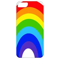 Rainbow Apple Iphone 5 Classic Hardshell Case by Alisyart