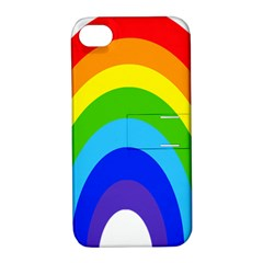 Rainbow Apple Iphone 4/4s Hardshell Case With Stand by Alisyart