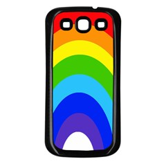 Rainbow Samsung Galaxy S3 Back Case (black)
