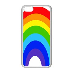 Rainbow Apple Iphone 5c Seamless Case (white) by Alisyart