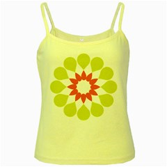Tikiwiki Abstract Element Flower Star Red Green Yellow Spaghetti Tank