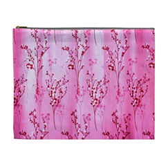 Pink Curtains Background Cosmetic Bag (xl) by Simbadda