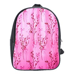 Pink Curtains Background School Bags(large)  by Simbadda