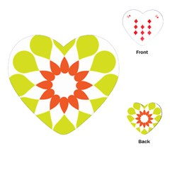 Tikiwiki Abstract Element Flower Star Red Green Playing Cards (heart)  by Alisyart