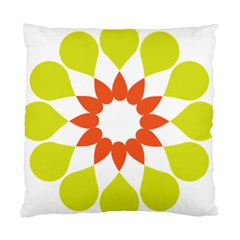 Tikiwiki Abstract Element Flower Star Red Green Standard Cushion Case (two Sides)