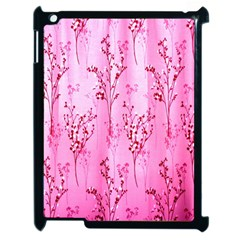 Pink Curtains Background Apple Ipad 2 Case (black) by Simbadda