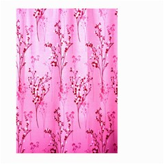 Pink Curtains Background Large Garden Flag (two Sides) by Simbadda