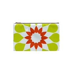 Tikiwiki Abstract Element Flower Star Red Green Cosmetic Bag (small)  by Alisyart