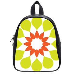 Tikiwiki Abstract Element Flower Star Red Green School Bags (small)  by Alisyart