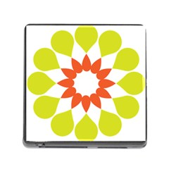 Tikiwiki Abstract Element Flower Star Red Green Memory Card Reader (square)