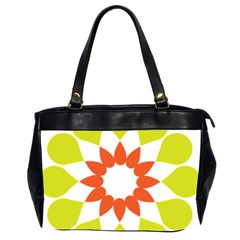 Tikiwiki Abstract Element Flower Star Red Green Office Handbags (2 Sides)  by Alisyart