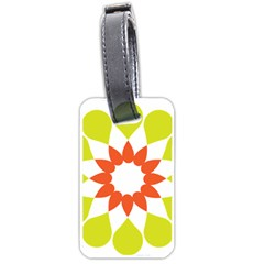 Tikiwiki Abstract Element Flower Star Red Green Luggage Tags (two Sides) by Alisyart