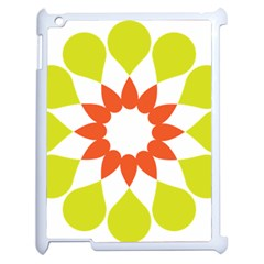Tikiwiki Abstract Element Flower Star Red Green Apple Ipad 2 Case (white) by Alisyart