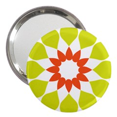 Tikiwiki Abstract Element Flower Star Red Green 3  Handbag Mirrors by Alisyart