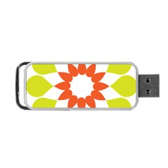 Tikiwiki Abstract Element Flower Star Red Green Portable Usb Flash (one Side)